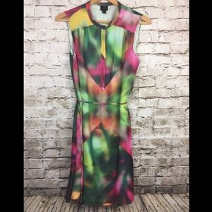 Worthington Shift Dress Sleeveless Abstract Lined